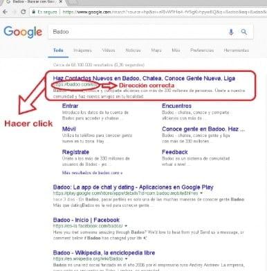 acceder a badoo desde el navegador