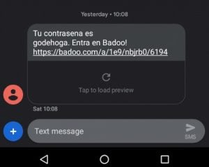 sms de badoo