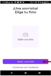 crear cuenta badoo app foto perfil