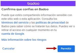 crear cuenta badoo aceptar politica privacidad
