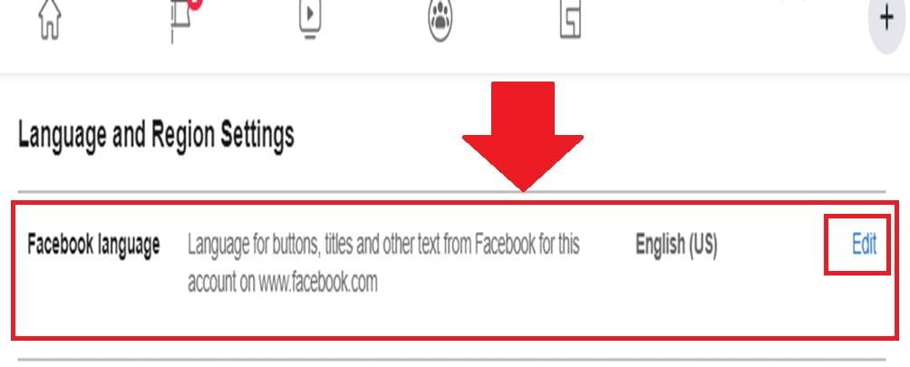 ¿Cómo cambiar el idioma en Facebook?
