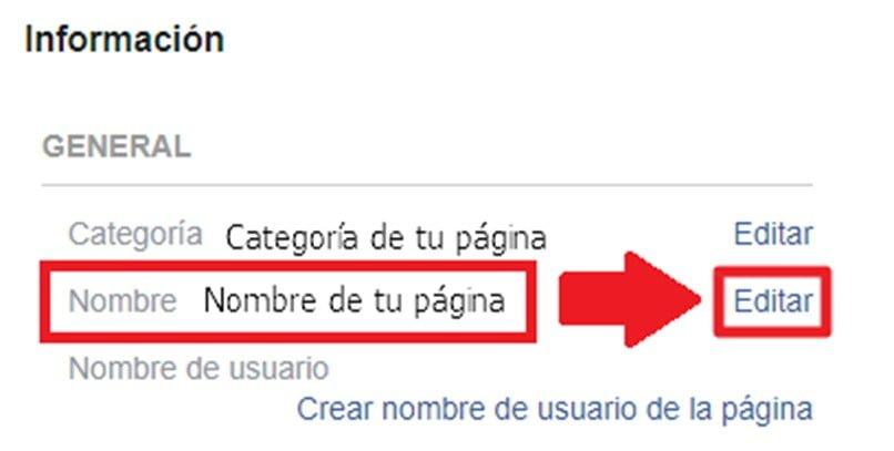 ¿Cómo Cambiar Nombre de Página de Facebook?