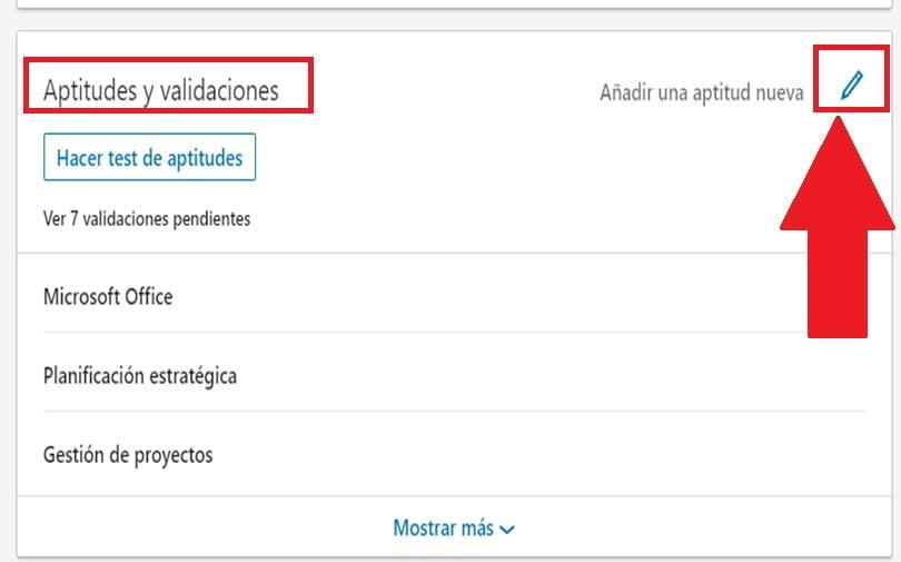 ¿Cuáles son las aptitudes para el perfil en LinkedIn?