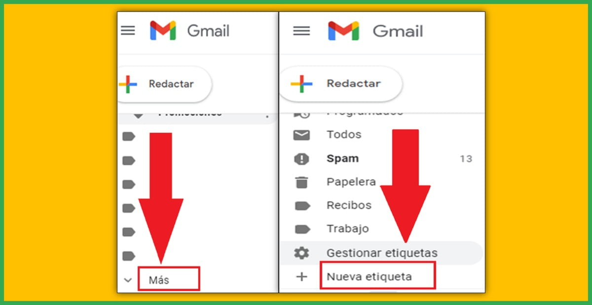 ¿Cómo crear carpetas organizadas en Gmail?
