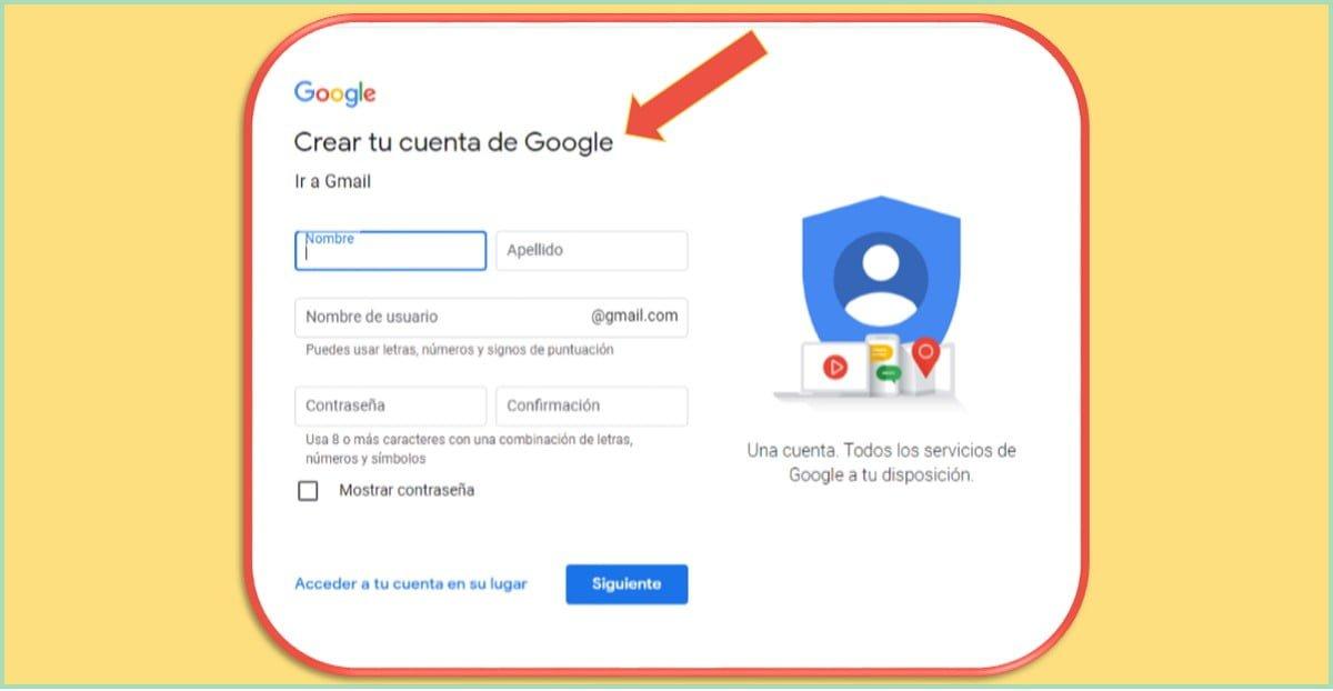 ¿Cuáles son las formas de registrarse en Gmail?