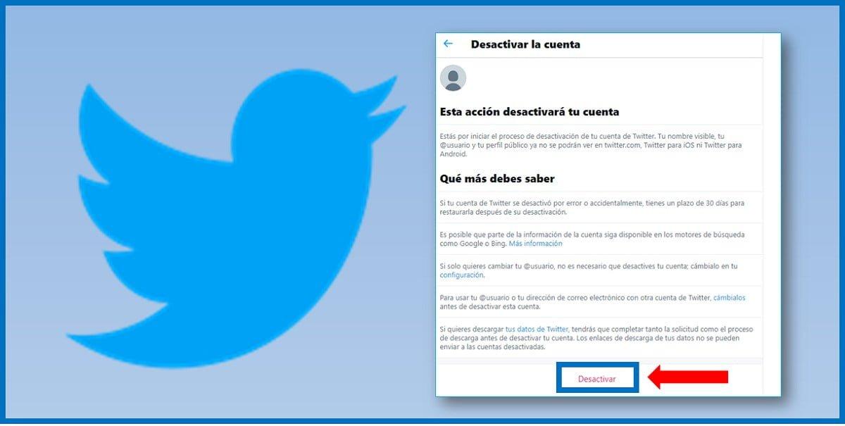 Cuáles son los pasos para eliminar cuenta de Twitter